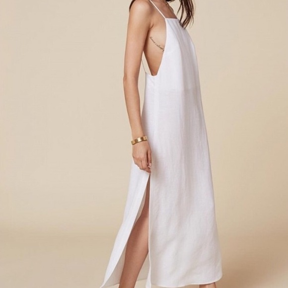 873839b3d1 REFORMATION White Linen Lily Dress